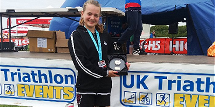 Multi Sports Success for Hythe Aqua Swimming Club Competitive Swimmers Emily Chambers Success at South Coast Triathlon
