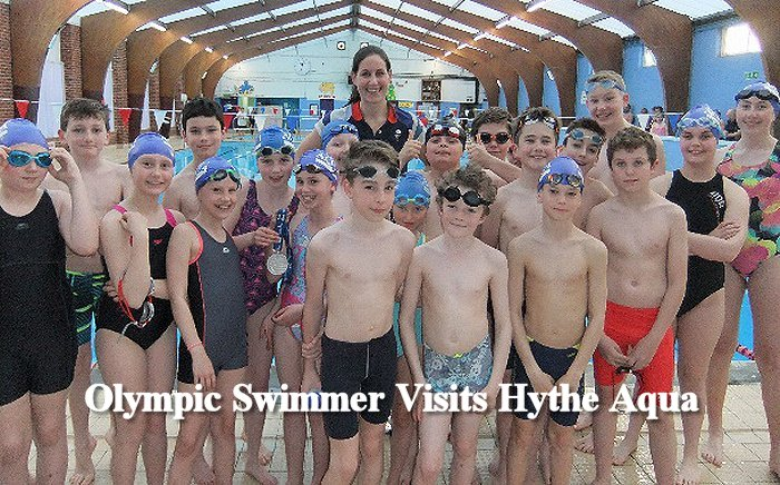 9cd43c0164 Last Tuesday Hythe Aqua Swimming Club held its annual Olympic Night at Hythe  Pool with Olympian