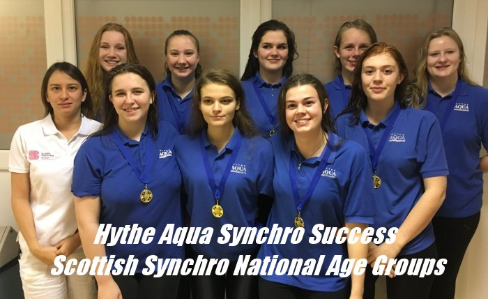 Hythe Aqua Synchro Success Scottish Synchro National Age Groups OCT 2018