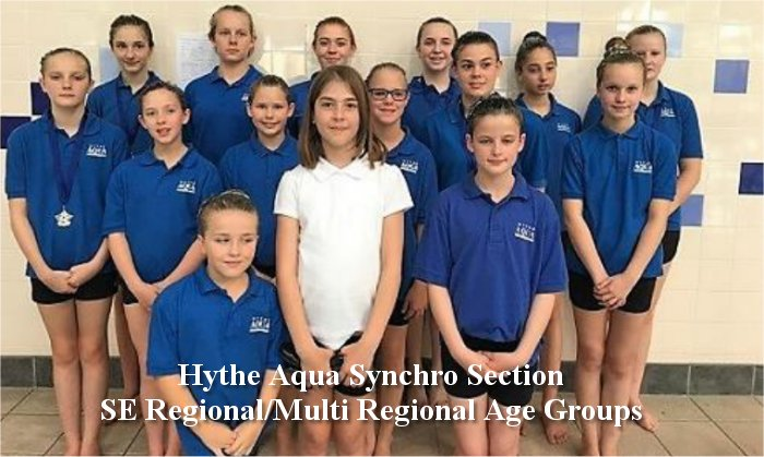 HYTHE AQUA SYNCRO SECTION SE REGIONAL MULTI REGIONAL AGE GROUPS