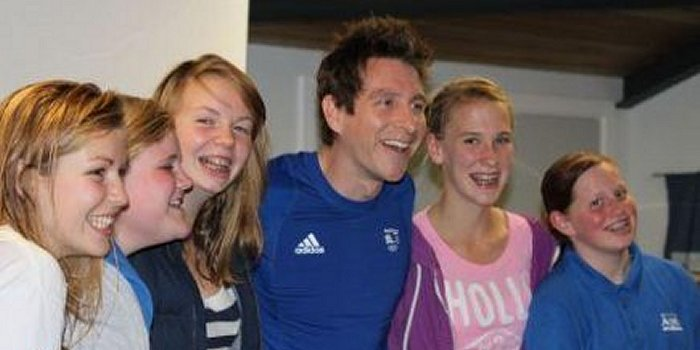 Chris Cook; 100m breastroke Olympic finalist and Commonwealth Gold medallist coached Hythe Aqua's squad